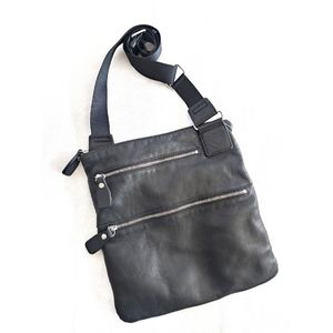 Margot Black Leather Crossbody Handbag
